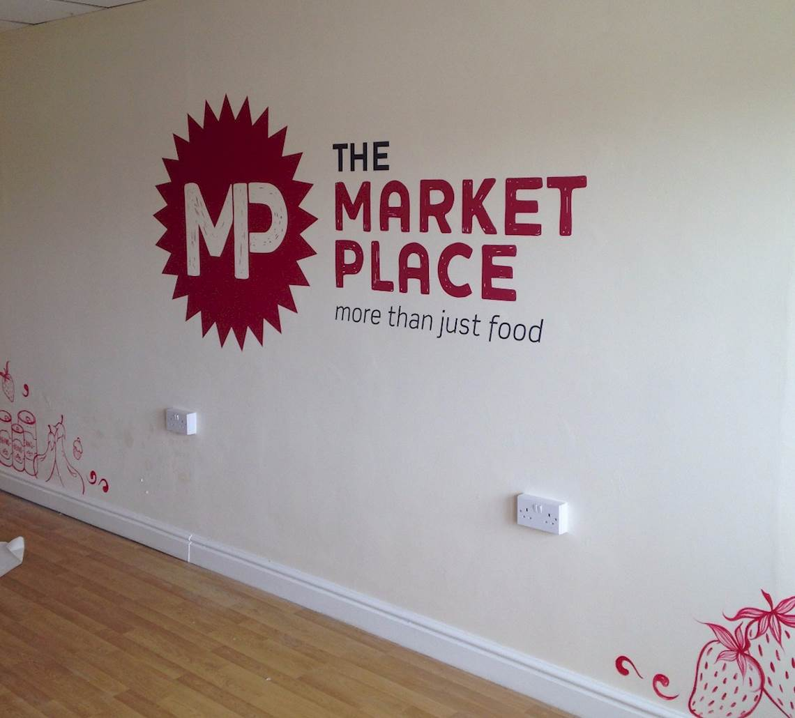 Market Place internal graphics